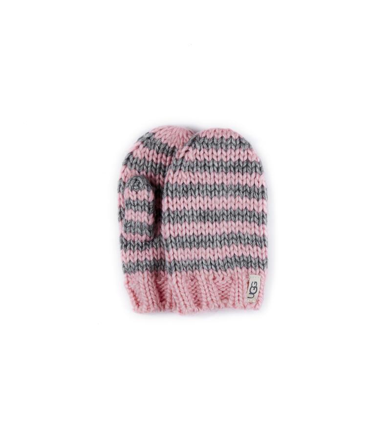 Chunky Stripe Knit Mitten