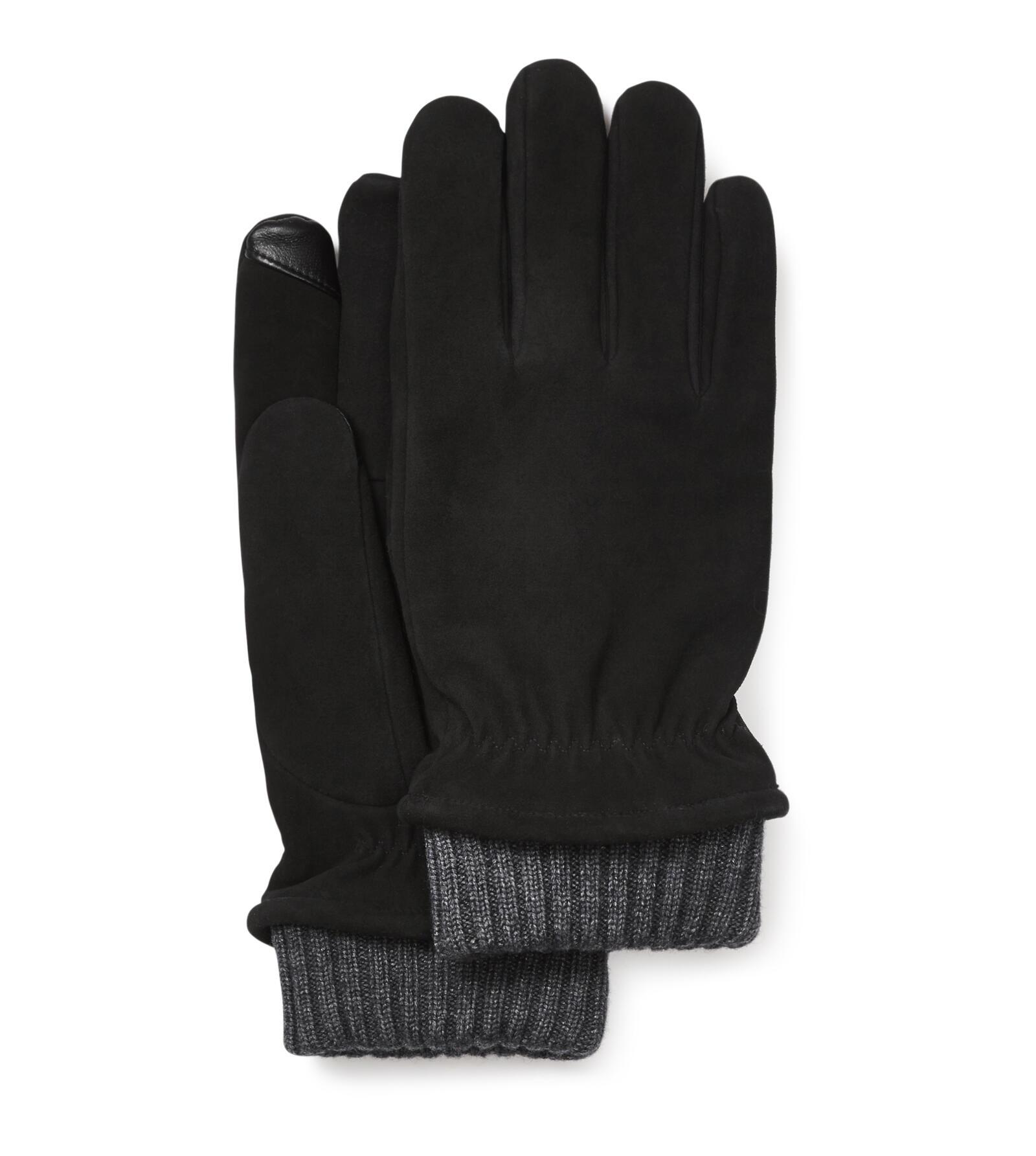 Suede Glove With Knit Cuff
