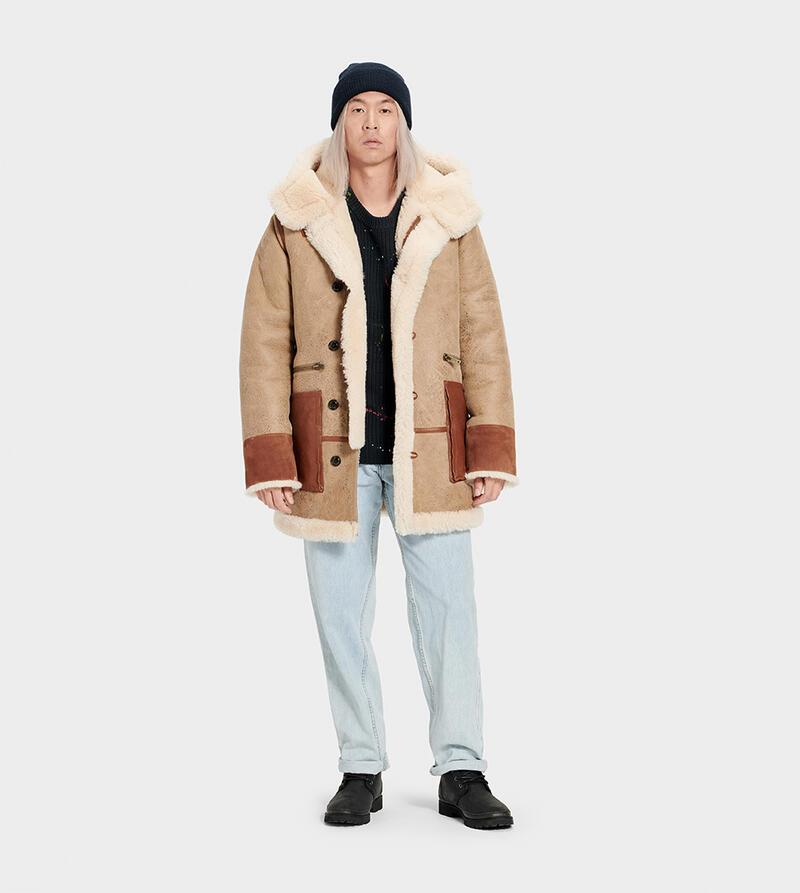 Yates Shearling Hooded Coat
