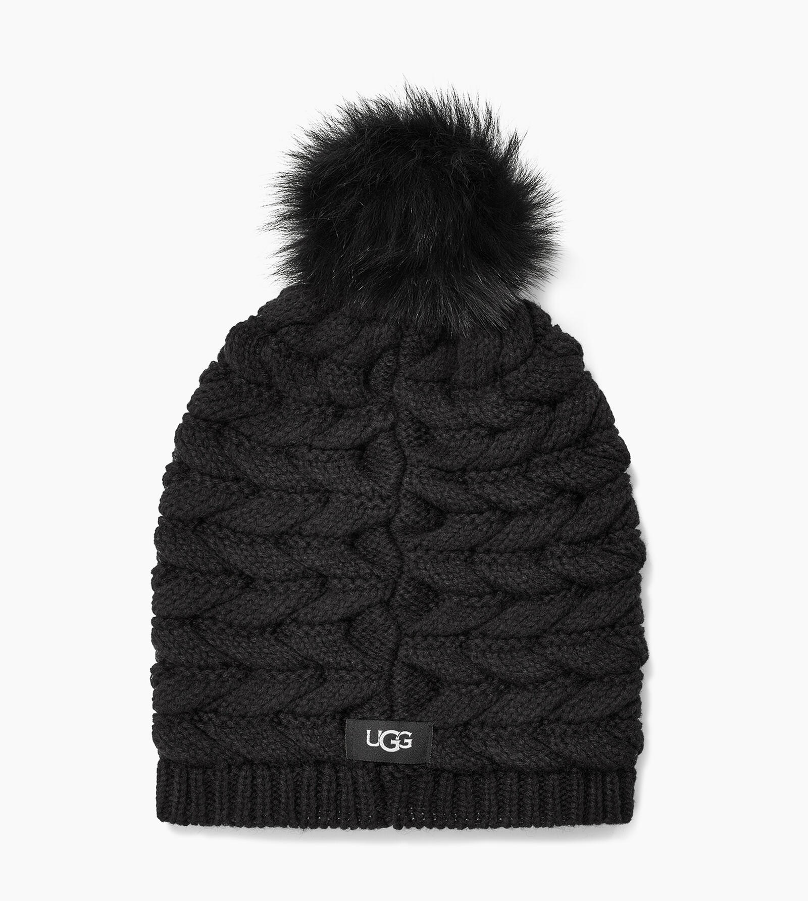 Cable Hat with Pom