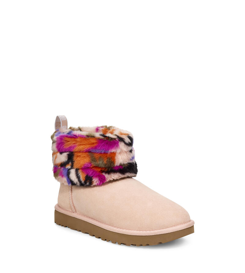 Fluff Mini Quilted Motlee Boot