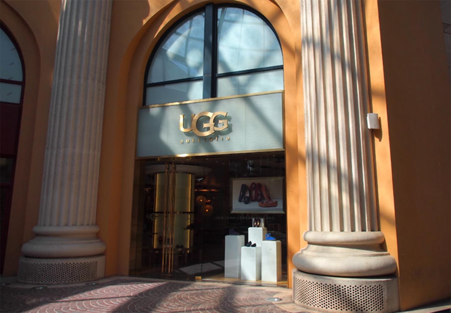 storefront of Ugg retail store